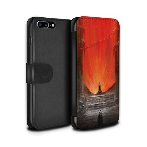 Offiziell Chris Cold PU-Leder Hülle/Case/Tasche/Cover für Apple iPhone 7 Plus / Der Anrufer Muster / Dunkle Kunst Dämon Kollektion Hohe Königin