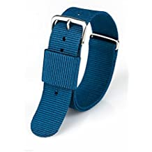 ACE+ Correa de Reloj Premium Nylon 240x20 mm Correa de Reloj con Hebilla de Acero Inoxidable