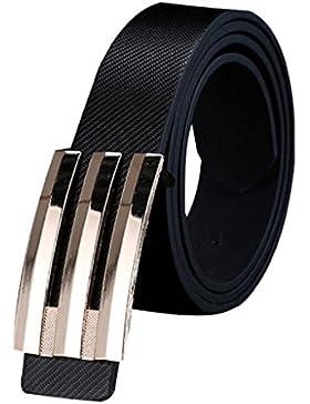 zolimx Cinturones de mujer, Hebilla automático correa de cuero cinturones