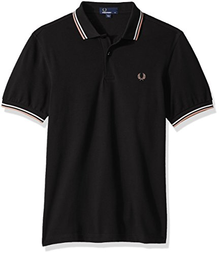 Fred Perry Herren Poloshirt FP Twin Tipped Black/Ecru/Nectar