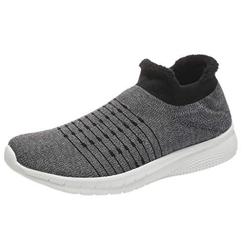 Damen Herren Unisex-Erwachsene Low-Top Outdoor Mesh Schuhe Beiläufig Slip On Komfortable Sohlen Laufsportschuhe By Vovotrade