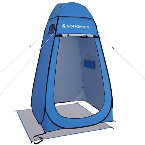 SONGMICS Camping Umkleidezelt Outdoor Privatsphäre ZeltePop up Wasserfest Tragbar Blau GPT01BU