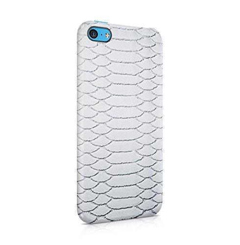 Grey Snake Skin Pattern Apple iPhone 5C Snap-On Hard Plastic Protective Shell Case Cover Custodia Snow White Skin