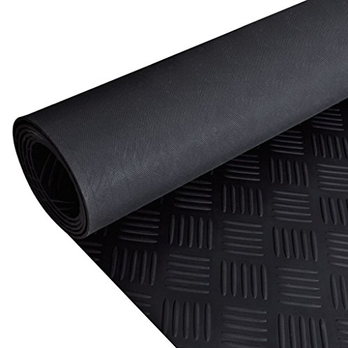VidaXL Estera Antideslizante de Caucho del Suelo 2 x 1 m Placa de Cuadros