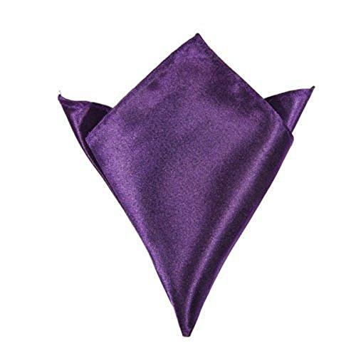 Design italien carré uni en Satin pour mariage/fête Motif pocket Hanky Violet - Violet foncé