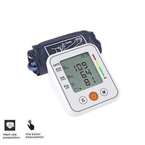 DZWJ Oberarm-Blutdruckmessgerät, Blutdruckmessgerät mit großem LED-Display und Manschette 2-Benutzer-Modus für den Heimgebrauch,Novoicebroadcast