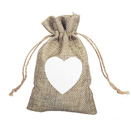 �igkeit-Geschenk Jutebeutel Kordelzug Geburtstag Hochzeit Geschenk Jewlery Beutel-Partei-Bevorzugung Geschenk-Taschen ()