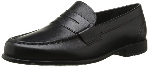 Rockport Classic Loafer Penny, Mocassini uomo, Nero, 44 1/9
