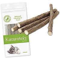 Forck Katzenminze Katzenspielzeug 5 Sticks, unsere Matatabi-Kausticks unterstützen die natürliche Zahnpflege und helfen bei Zahnstein & Mundgeruch
