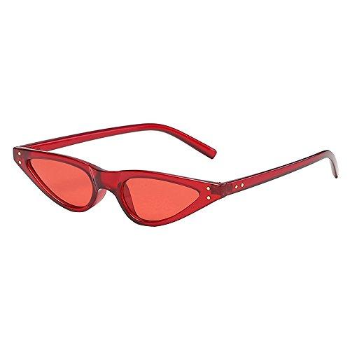 Fashion Sonnenbrille Rosennie Sommer Damen Herren Mode Vintage Unisex UV400 Brille für Fahrer Fahren Sonnenbrillen kleine Katzenaugen Dreieck Farbverlauf Sonnenbrille Retro Brillen Online (F)