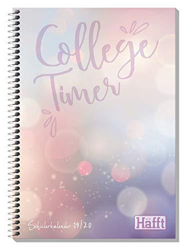 Häfft College-Timer A5 2019/2020 [Bubbles] Schülerkalender, Schüler-Tagebuch, Schülerplaner mit Brot & Schwein Comics, Fun Facts, Stickern und mehr! (Schwein Planer)