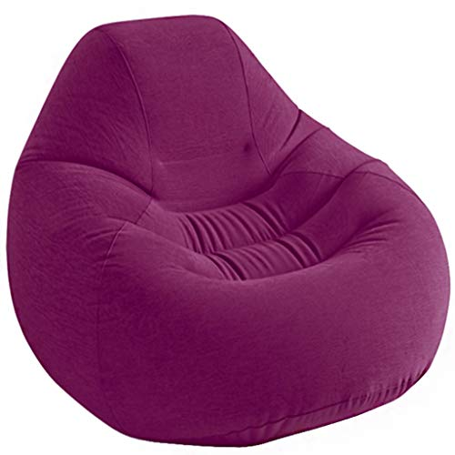 JiuErDP Flocking Single aufblasbares Sofa faul Sofa Lounge Sessel Sofa (Farbe : Fuchsia)