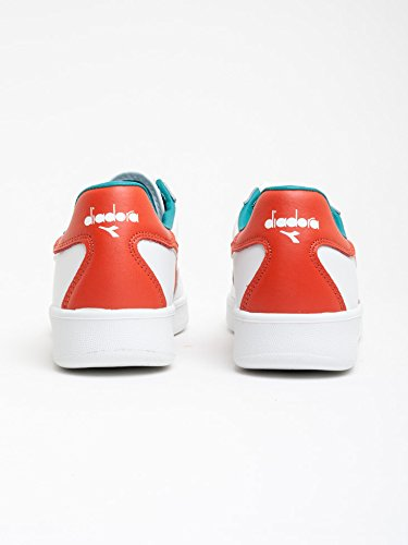 Diadora B.Elite hommes, cuir lisse, sneaker low WHITE RED GREEN