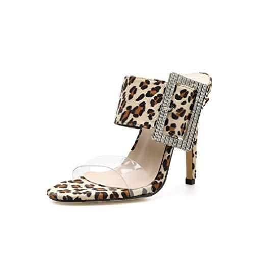 3f2a3f87 YAN Women es High Heel Slippers 2019 Summer European American Fashion Show  Shoes Peep Toe Transparent