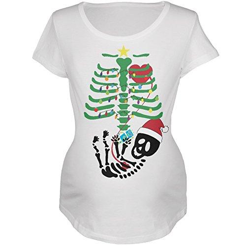 Weihnachtsbaum Skelett Roboter weichen Mutterschaft T-Shirt-groß