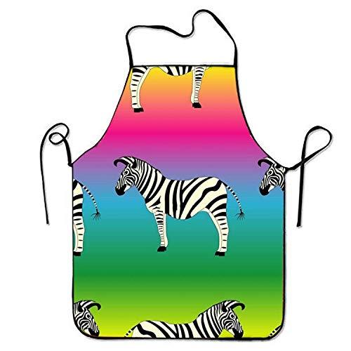 Fs2A1X Unisex Waterproof Aprons Wild Zebra Kitchen Apron Cooking Gardening Wild One Black Zebra