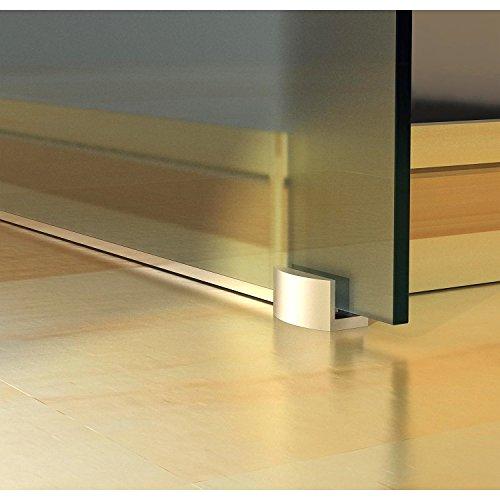 Homcom Glasschiebetür Schiebetür Tür Zimmertür mit Griffstange einseitig satiniert 2050 x 775 mm, 1 Stück, E7-0017