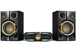 Philips FX50X/78 Home audio mini system 1000W Noir, Bleu, Or ensemble audio pour la maison - Ensembles audio pour la maison (Home audio mini system, Noir, Bleu, Or, 1 disques, Plateau, 1000 W, 2-voies)