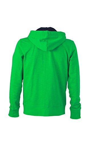 James & Nicholson Herren Urban Sweat Sweatshirt Grün (Fern-Green/Navy)
