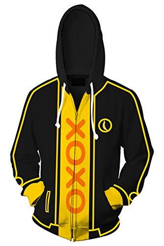 Kostüm Pedro - MingoTor Herren Damen für My Friend Freund Pedro Kapuzenjacke 3D Pullover mit Kapuze Sweatjacke Hoodie Cosplay Kostüm Unisex