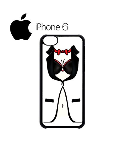 Sexy Women Tuxedo Suit Bow Swag Mobile Phone Case Back Cover Hülle Weiß Schwarz for iPhone 6 White Schwarz