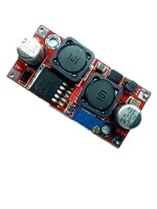 Autek DC/DC Convertisseurs électriques DC Boost Buck Voltage Converter 3-35V to 1.25-30V 2A Full Range Regulator LM2587 DCCON-MS8