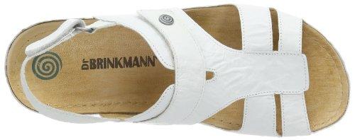 Dr. Brinkmann - 710633, Scarpe col tacco con cinturino a T Donna Bianco (Weiß (weiß 3))