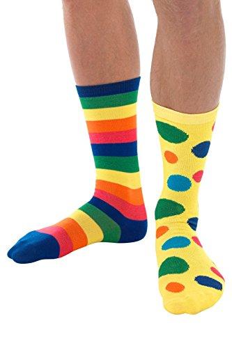 Smiffys Big Top Clown Socks, Fancy Dress -
