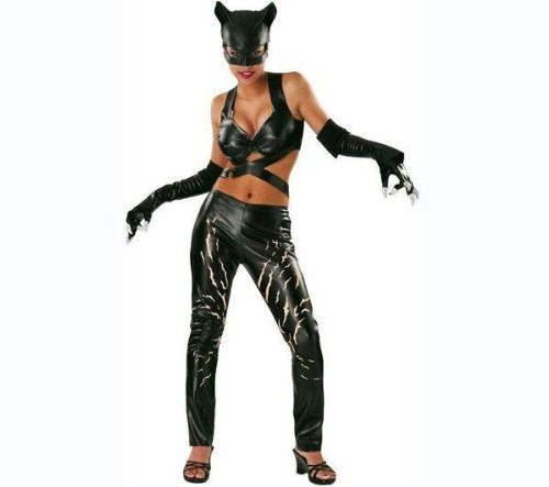Kostüm Catwoman Deluxe - Rubie's Erwachsenen-Kostüm Catwoman Deluxe - Größe M