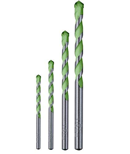 kwb AKKU TOP Hardcut Granitbohrer-Kassette – 4 teiliges Steinbohrer-Set, diamantgeschliffen, Ø 5-10 mm, Made in Germany