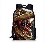 KHDJH Zaino per bambini Cool Jurassic World Dinosaur Scuola Sacchetto Set Per Adolescenti Ragazzi 3d Studente Bambini Scuola Primaria Bambini Zaino e e