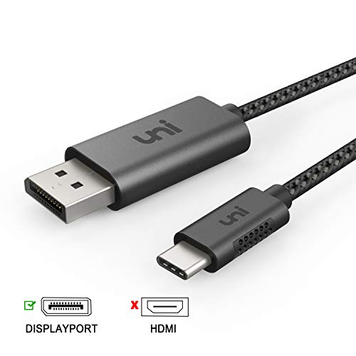USB C zu DisplayPort-Kabel (4K@60Hz), Thunderbolt 3 zu DisplayPort-Kabel, kompatibel für MacBook Pro 2018/2017, MacBook Air/iPad Pro 2018, XPS 15, Surface Book 2 und mehr, 6 ft / 1,8 m, Nicht HDMI -
