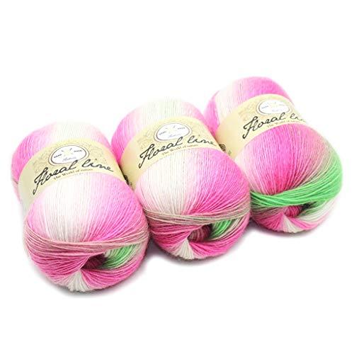 MM456 Strickwolle – 100 g Häkelgarn in verschiedenen Farben – Häkelwolle, perfekt für jedes Häkeln, Stricken, Mini-Projekt, Decken, Puppen, Matten, Schal und mehr, 6, ()