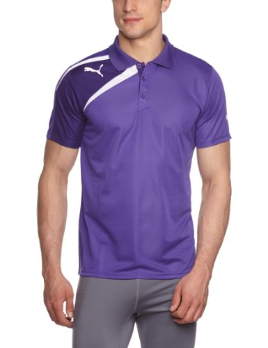 PUMA, Polo Uomo Spirit, Viola (Team Violet/Parachute Purple/White), XL