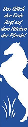 (GRAZDesign 820132_57_052 Wandtattoo Aufkleber Wandbanner für Kinderzimmer Spruch Pferde Banner (249x57cm//052 Azurblau))
