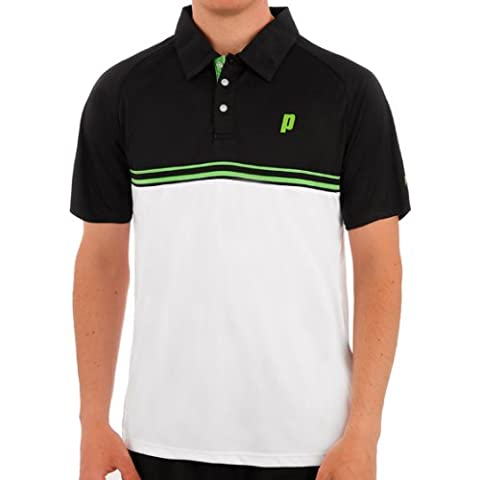 Prince Upper Body Fabric Stripe Men Polo White white Size:XXL
