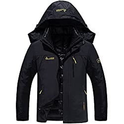 ea41b6f2 Chaqueta Softshell Hombre Mujer Chaquetas 3 en 1 Montaña de Invierno Abrigo  Impermeable Chaqueta de Acampada