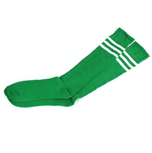Sport Streifen Lange Socken,Amcool Bunt Über Knie Hohe Socken Baseball Eishockey Fußball(A, 49 cm) (Adidas Knie Hoch Socken)
