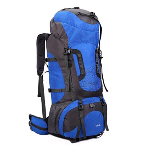 Zaino Da Viaggio Leggero In Acqua Resistente All'acqua Daypack Escursionismo A Zaino Da Campeggio Zaino Da Arrampicata,Red Blue