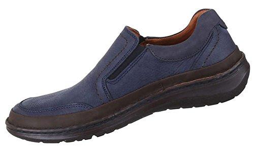 Herren Halbschuhe Schuhe Leder außen und innen Slipper Loafers Freizeitschuhe blau schwarz von 41 42 43 44 45 46 47 Blau