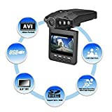 """Auslese™ Portable 2. 5"""" Full HD Car DVR Vehicle Camera Video Recorder Dash Cam IR Day and Night Vision with 6 LED"""