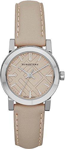 BURBERRY BU9207 - Reloj para mujeres, correa de cuero color beige