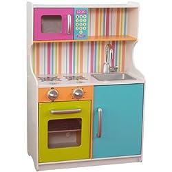 KidKraft - Cocina de rayas, colores brillantes (53294)