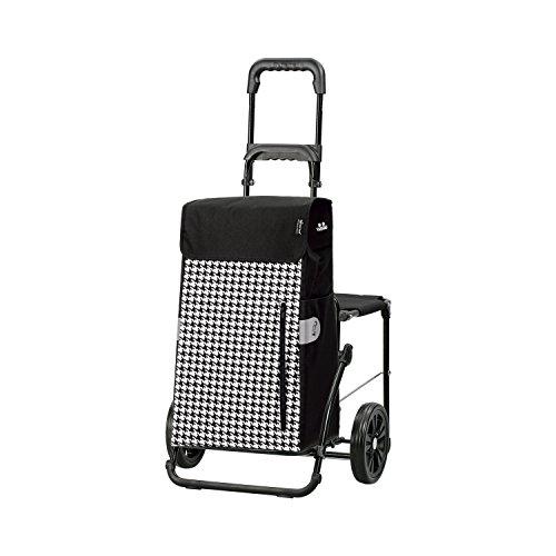 Andersen Shopper Komfort mit Sitz und 43 Liter Tasche Tilly schwarz mit Kühlfach