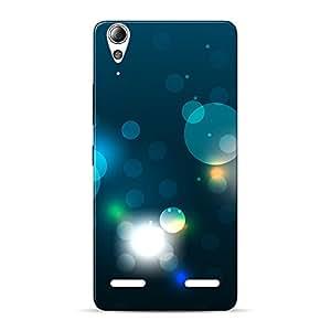 INKIF Circles Abstarct Designer Case Printed Mobile Back Cover for Lenovo A6000(Blue )