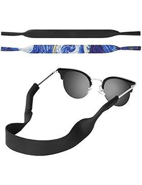 MoKo Correa de Gafas de Sol, [2 Paquetes] Cómodo y Suave Cuerda de Gafas de 100% Neopreno, Mantiene sus Gafas...