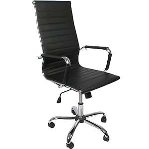 chaise de bureau avec accoudoirs assise et m canisme bascule pivotante noir. Black Bedroom Furniture Sets. Home Design Ideas