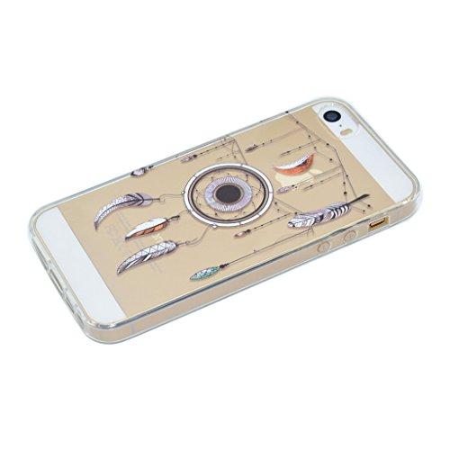 iPhone SE 5 / 5S Cover , IJIA Ultradünne Transparent Niedliche Kätzchen Schwarz Grau TPU Weich Silikon Stoßkasten Hülle Handyhülle Schutzhülle Handyhüllen Schale Case Tasche für Apple iPhone SE 5 / 5S XX37