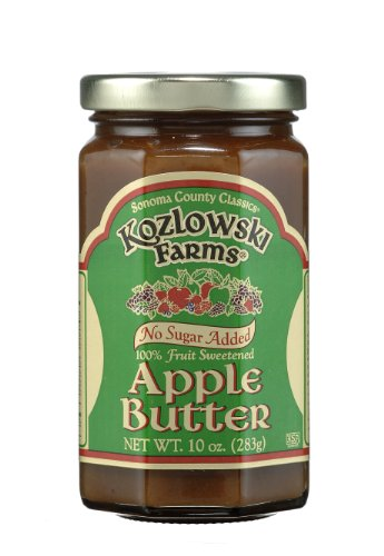 Kozlowski Farms Butter with No Sugar Added, Apple, 10.0-Ounce (Pack of 6)
