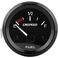 perfk Indicador de Nivel de Gasolina de 52 mm LED de Iluminación + Sensor de Combustible Automático